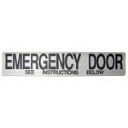 Picture of Emergency Door - See Instructions Below Decal-Part#0847707