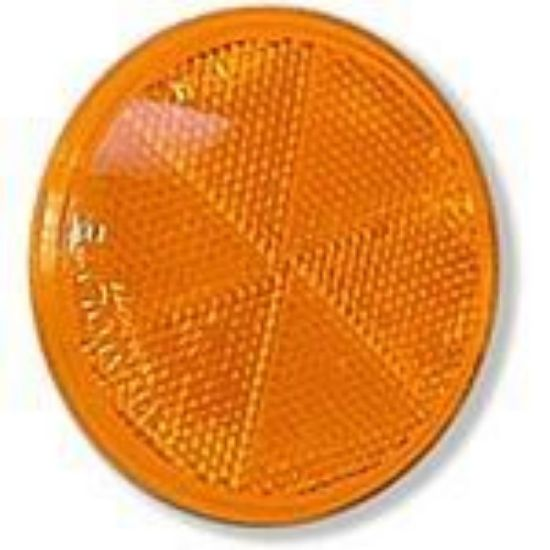 "Picture of Amber, 3"", Self-Adhesive, Reflector Part# 00125136"