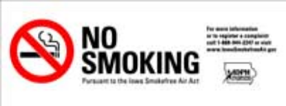 Picture of No Smoking Decal Part #NO SMOKING