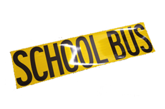 Picture of School Bus Decal-Reflective Part#0002726