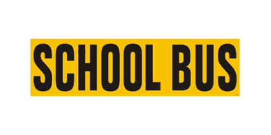 "Picture of Magnetic ""SCHOOL BUS"" Sign - 8""x28"" Part#SB 8x28"" Magnetic"