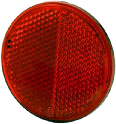 "Picture of Red, 3"", Self-Adhesive, Reflector Part# 00125137"