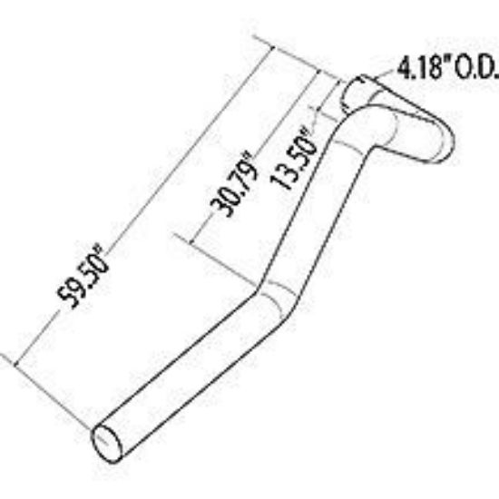 Picture of Blue Bird ISB10 Left Hand Tail Pipe Part#10011477