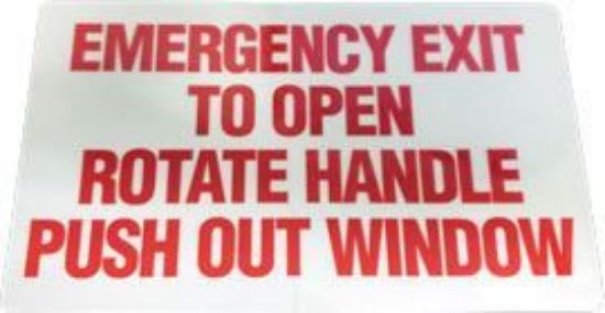 Picture of Emergency Exit POW Decal Part#10014293