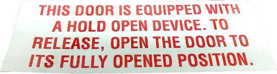 Picture of Emergency Door Decal Part# 0062382