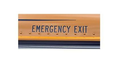 "Picture of 2"" Emergency Exit Decal Outside Part#EMERGENCY EXIT"