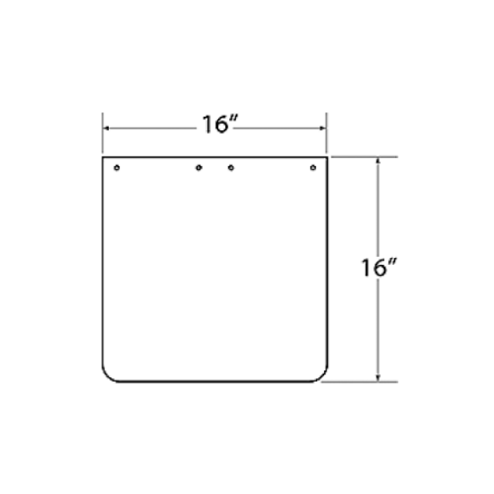 Picture of Mudflap Front Rubber Part #00118390